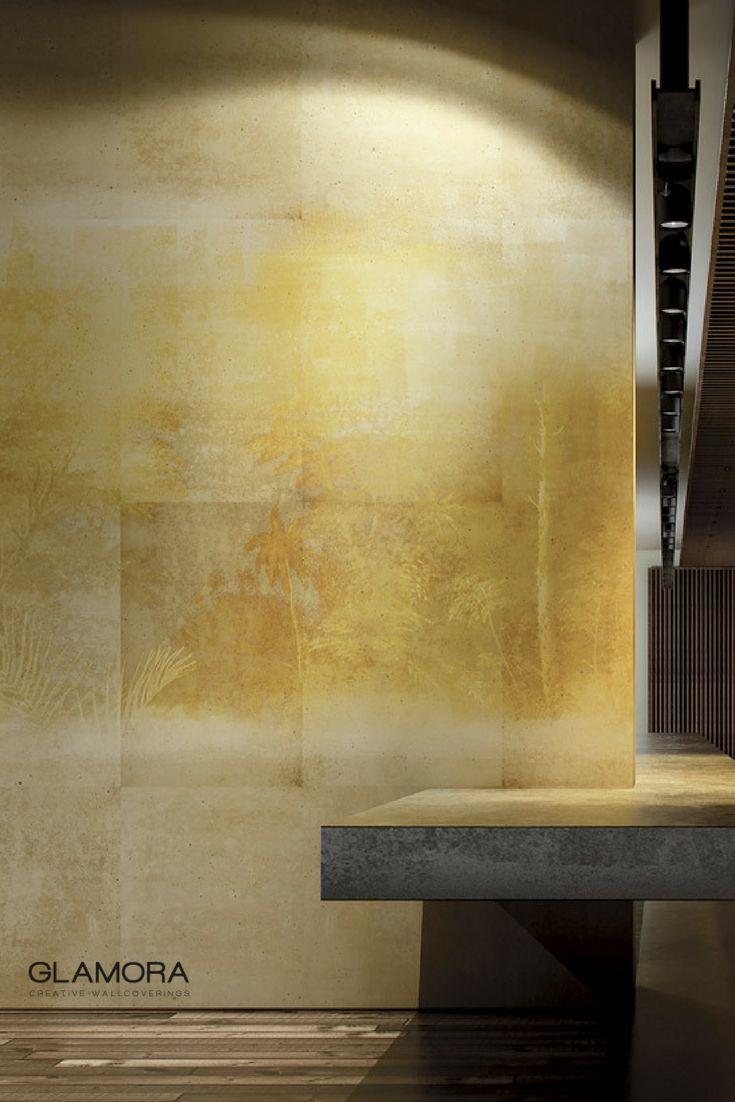 Amber | Natural Wallcovering & Carta da Parati | Gold collection by Glamora