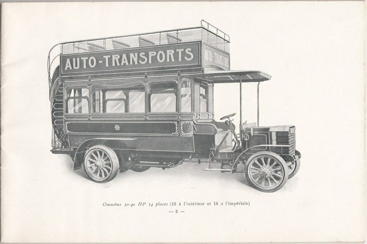 A bus from Darracq-Serpollet, 1909, Suresnes, France #Booktower
