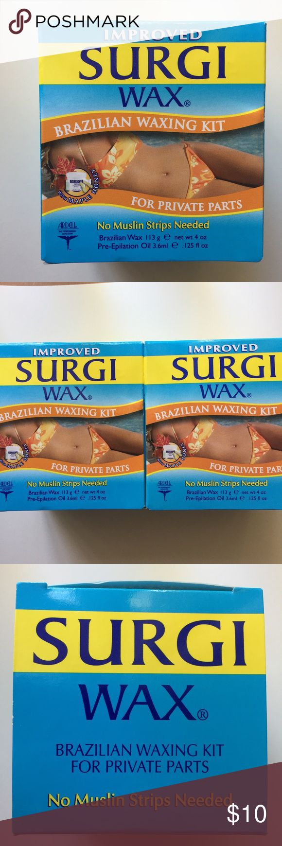 Ardell Surgi Wax Brazilian Waxing Kits Ardell Surgi Wax Brazilian Waxing Kit. Made with maple honey. Includes two unopened boxes. Each box is 4 oz and includes pre-epilation oil and applicator. Ardell Other
