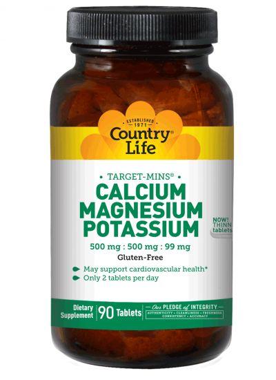 Calcium - Magnesium - Potassium | Country Life Vitamins