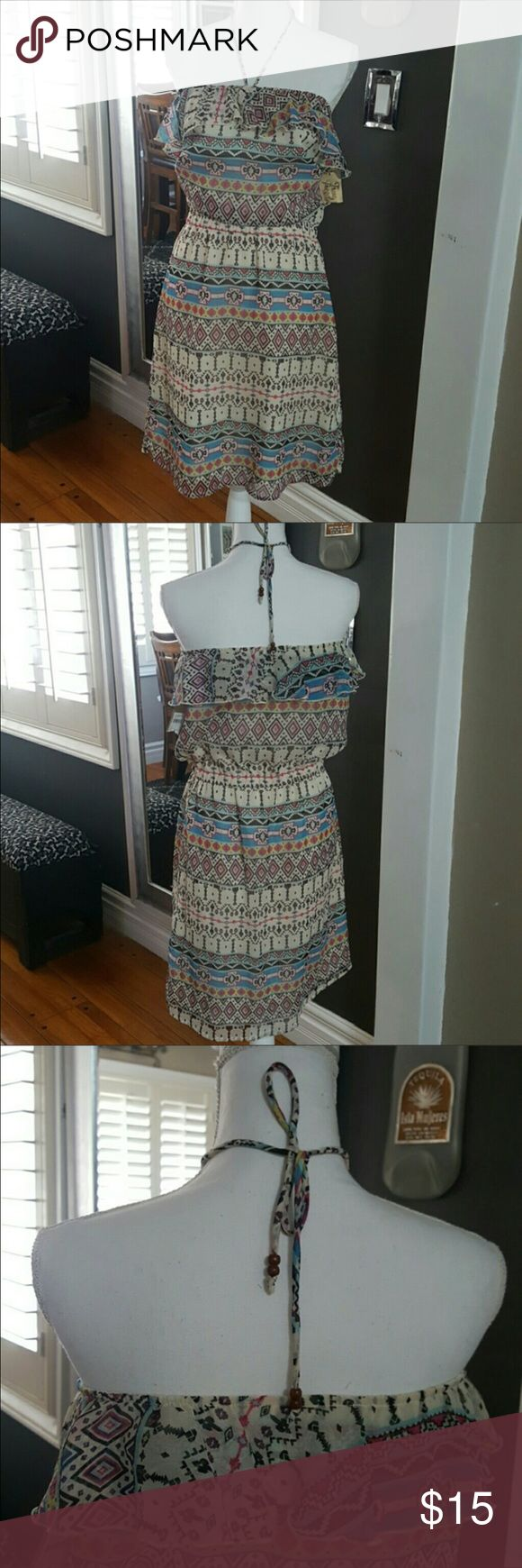 Summer dress New never worn, very light wt, multi color Dresses Midi