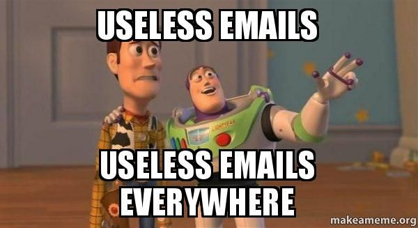 ... emails everywhere - Buzz and Woody (Toy Story) Meme | Make a Meme