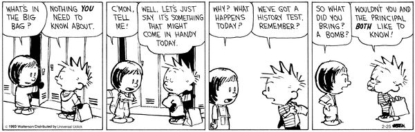 Relieving test anxiety Calvin and Hobbes on Gocomics.com ...