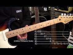 LET'S TALK SCALES #5 How To Play The A Minor Pentatonic Scale Up The Guitar Neck - YouTube