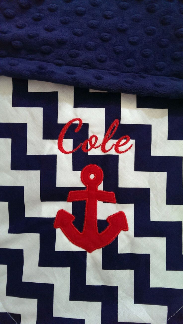 Personalized Anchor Baby Blanket   Personalized Chevron Baby Blanket   Anchor Baby Blanket   Nautical Baby Blanket by OurAdorableBaby on Etsy https://www.etsy.com/listing/187933510/personalized-anchor-baby-blanket
