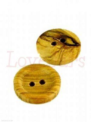 Wooden Button - a plain wooden button 15mm diameter, 5 per pack