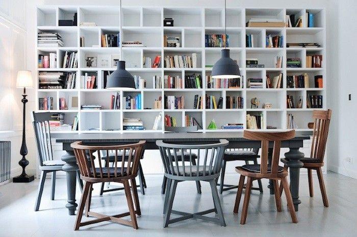 wall of shelves...loft magdalena adamus remodelista dining room