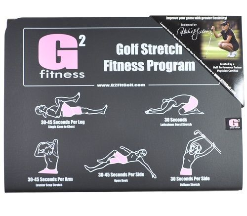 The G2 Golf Stretch Fitness Program provides every golfer with the same stretches that golf pros use with their trainers before and after each round, helping you to play better and live healthier.    Their patent-pending, eco-friendly mat is endorsed by top-ranked LPGA player Natalie Gulbis.