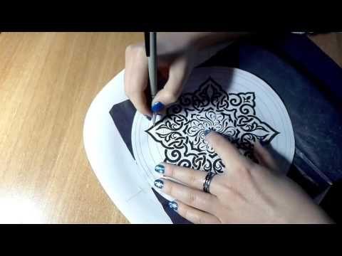 Яна Шапран Перевод рисунка на тарелку -