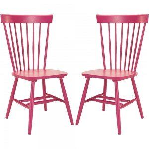 Set Of 2 Raspberry Parker Side Chairs