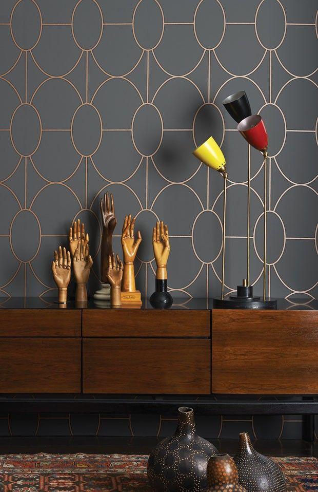 25 melhores ideias sobre papel de parede geom trico no pinterest papel de parede moderno - Foto deco lounge ...