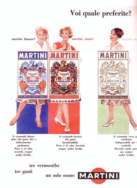pubblicità - anni 60s - martini