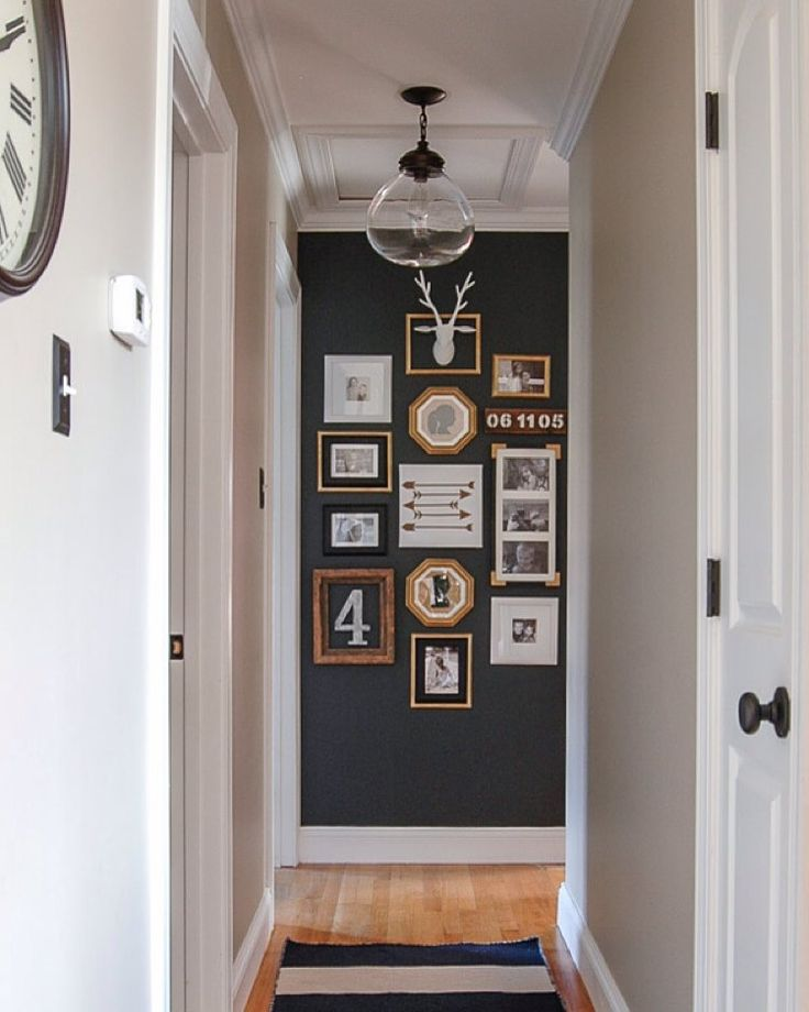 """""""Our hallway just got a bold update with my favorite @sherwinwilliams paint and a bunch of thrifted and Dollar Store frames! Head over to the blog for all…"""""""