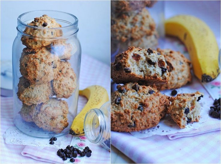 Oatmeal cookies with banana and chocolate(weight loss)