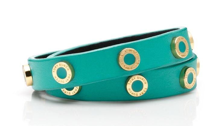 Tory Burch Cole Enamel Double Wrap Bracelet