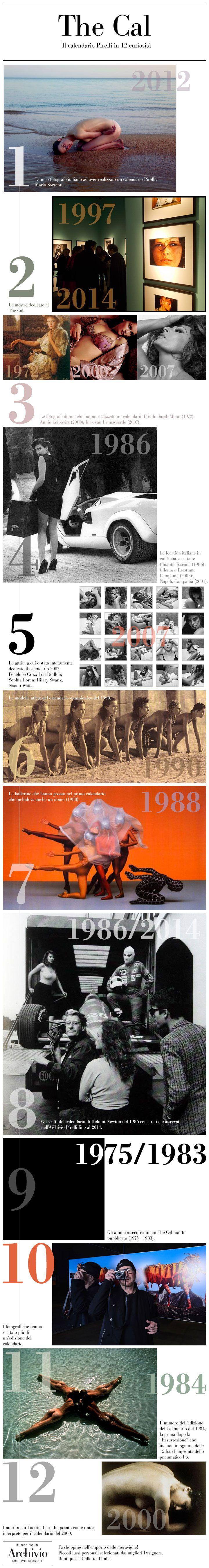 The Cal: il Calendario Pirelli in 12 Curiosità  Numero per numero abbiamo cercato 12 curiosità sul calendario più famoso del Mondo e le abbiamo riassunte in un'infografica. #CalendarioPirelli #TheCal #photo