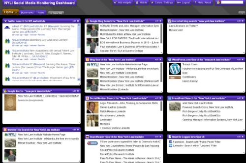 create library social media dashboard