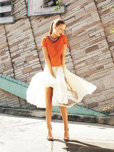burda style: Damen - Röcke - Tellerröcke - Plisseerock - Midilänge