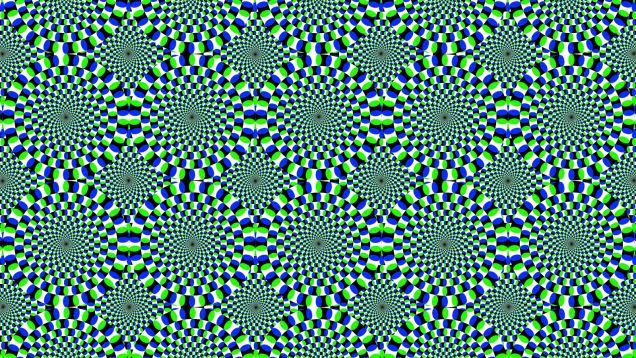 Popular Rotating Snakes : Non Animated Moving Optical Illusions