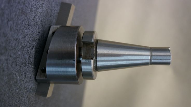 Flycutter mounted to an old ISO30 taper https://www.youtube.com/watch?v=--NVyQHgoxY&t=1s