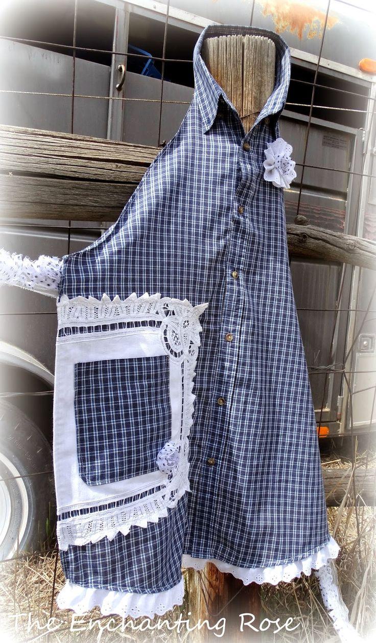 Blue apron edmonton - The Enchanting Rose Making An Apron From A Man S Shirt