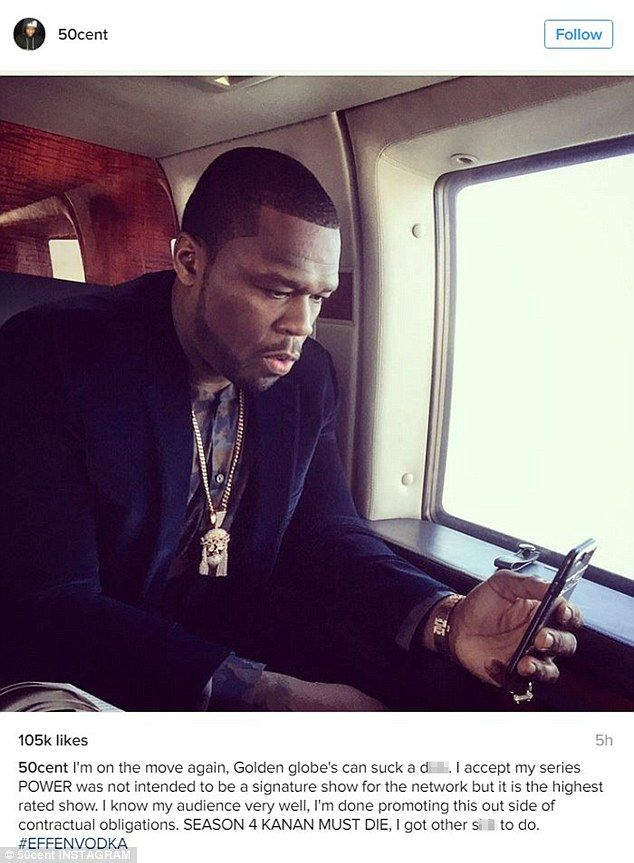Tell us how you really feel: 50 Cent posted a colourful reaction on Instagram after his show Power was snubbed on Monday