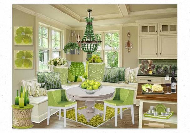 apple green kitchen by tikib