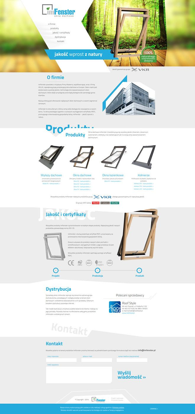 single page website - imfenster http://www.design-pro.com.pl/imfenster,198.html