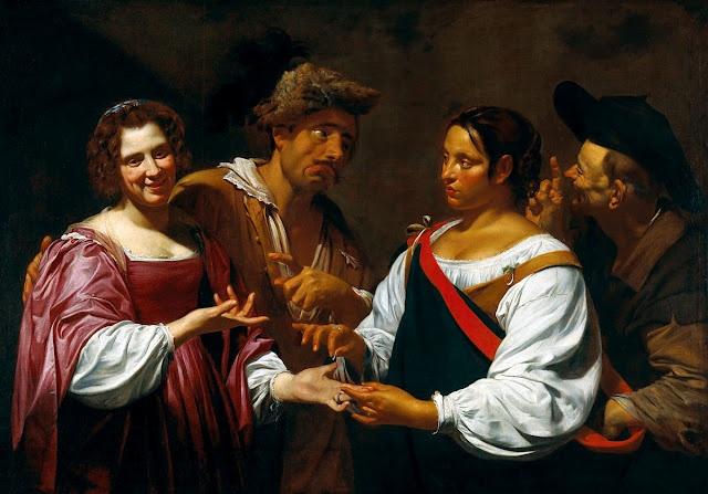 Caravaggio's Gypsy Fortune Teller  The Fortune Teller, 1620