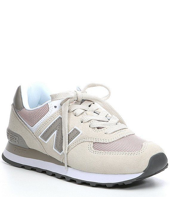 New Balance Women's 574 Suede Mesh Lifestyle Shoe | Dillard's ...