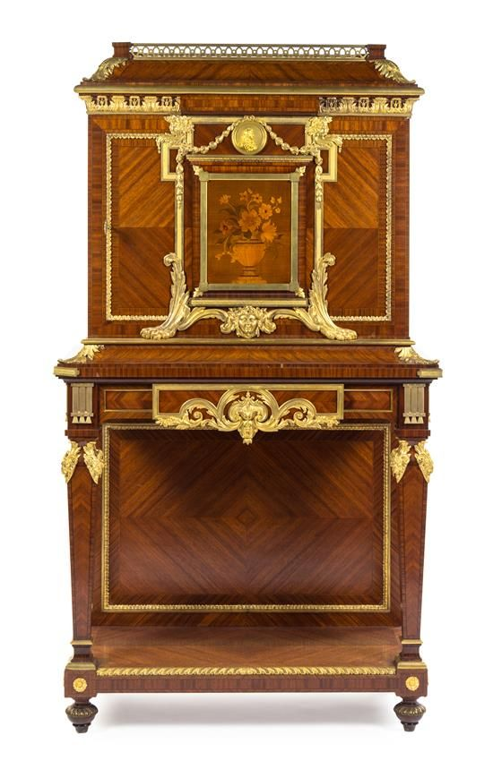A Louis XVI Style Gilt Bronze Mounted Kingwood and Marquetry Cabinet  | Connoisseur and Collector: A Chicago North Shore Residence | November 17, 2015