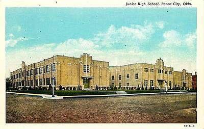 Ponca City Oklahoma 1939 Junior High School Collectible Antique Vintage Postcard