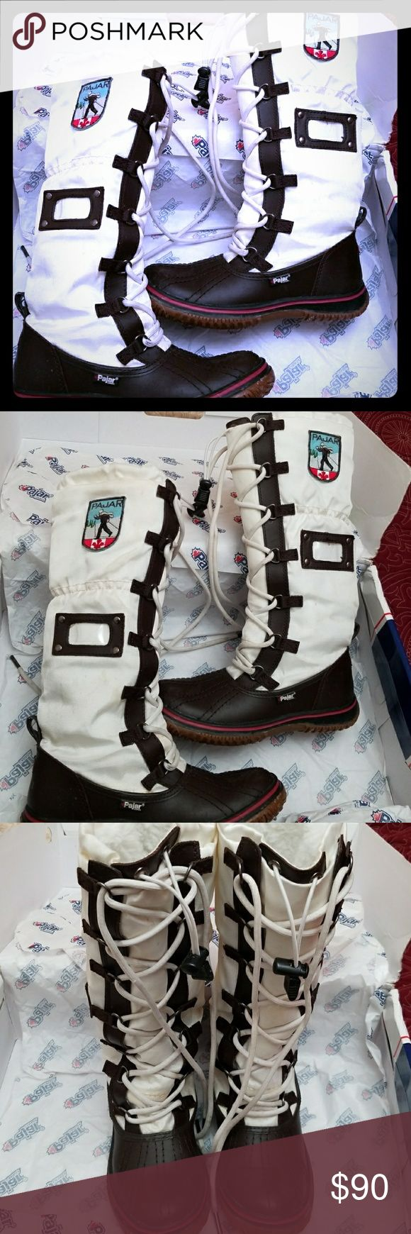 Pajar Canada Snow Boots GRIP DRK BROWN/OFF WHITE SNOW BOOTS Pajar Shoes Winter & Rain Boots