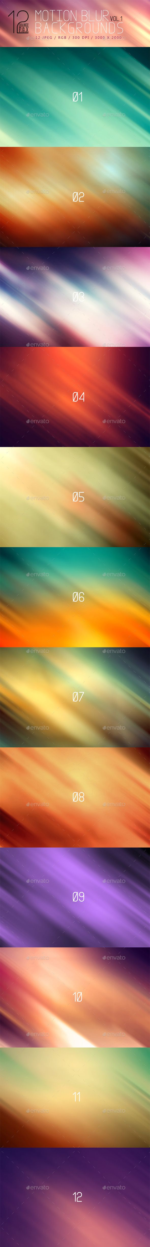 12 Motion Blur Backgrounds VOL.1   #abstract #amazing #background #blurbackground #business #clean background #color #light background #modern background #motion #motion blur #pattern #retro #Soft vintage #texture #vintage #website background