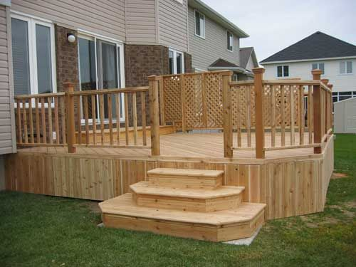 Ideas For Deck Designs backyard deck designs youtube How To Build A Deck With Landing Picture Plans For Deck Steps Bing Images Deck