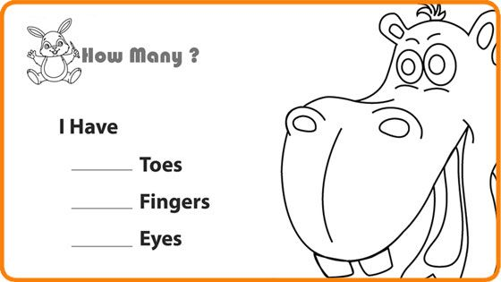 Number the Body Parts - Math Worksheet for Kids. For more interesting ...