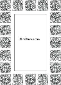 Big full page printable Celtic knot border frame at LeeHansen.com