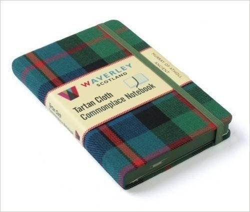 NEW-Murray-of-Atholl-Ancient-Waverley-Genuine-Tartan-Cloth-Commonplace-Notebook