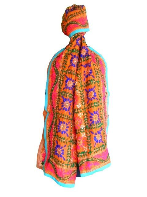 Add glamour to any of your dress with our gorgeous handembroidered  phulkari…