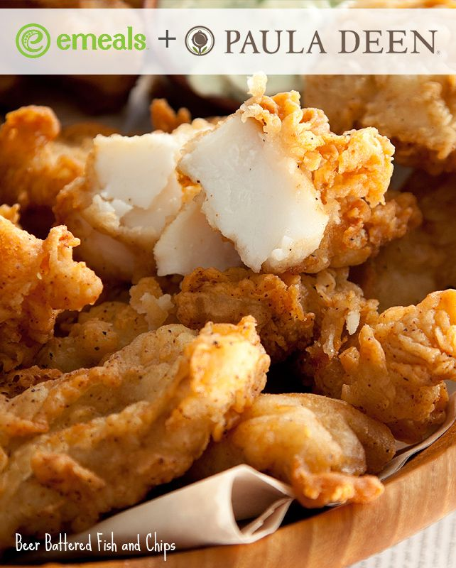 Pair Paula Deen's Beer Battered Fish and Chips with a quick salad (or try our lightened Green Bean-Potato Salad) for a class family meal. Invite some friends over, break out the paper plates, and enjoy. It's a pretty perfect way to savor the last days of summer.