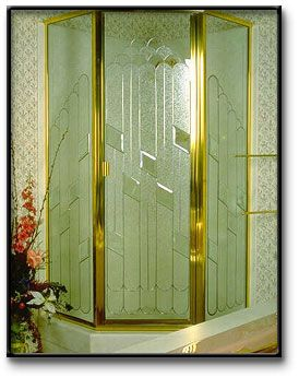 Decorative Floral Glass Shower Door Shower Doors On Pinterest Deserts Etched Glass And Shower Doors