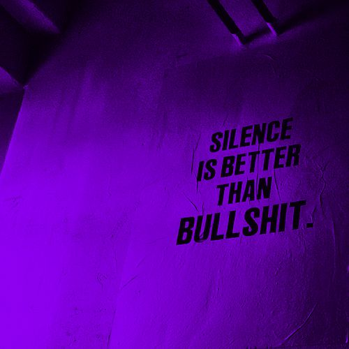#TRILLFACTS Pinterest - @houstonsoho | Silence is better than bullshit...