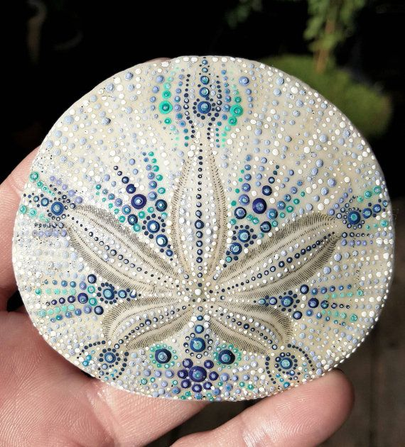 Hand Painted Sand Dollar Beach Art Ocean by ShannonTamayoJewelry. 42