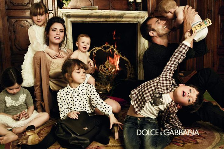 Dolce & Gabbana Bianca Balti italian family