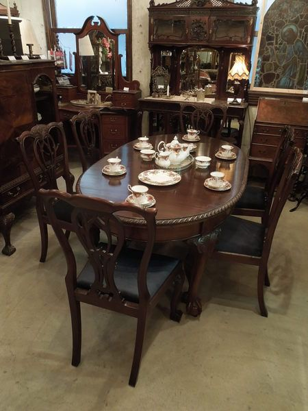 Chippendale dining set 1910's