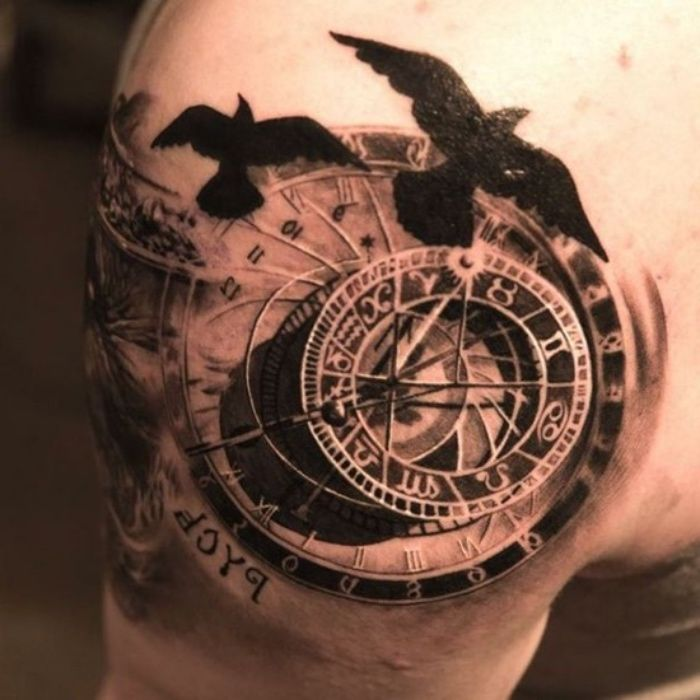 Astronomical Clock Tattoo: 57 Best Eye Tattoos For Men Images On Pinterest