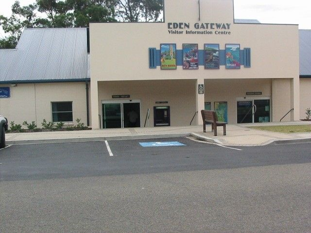 Current Eden Library, part of Bega Valley Shire Library service, gateway to pristine marine world of Twofold Bay.