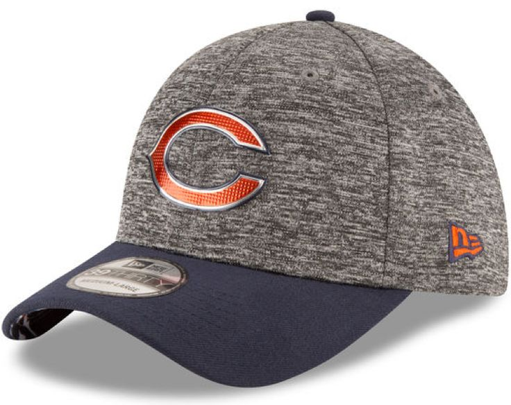 Chicago Bears New Era Heathered Gray/Black 2016 NFL Draft 39THIRTY Flex Hat