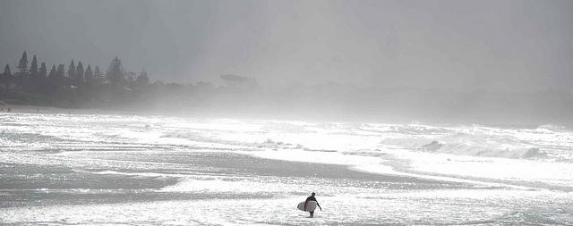 Lone surfer, Byron by wadlingbury, via Flickr