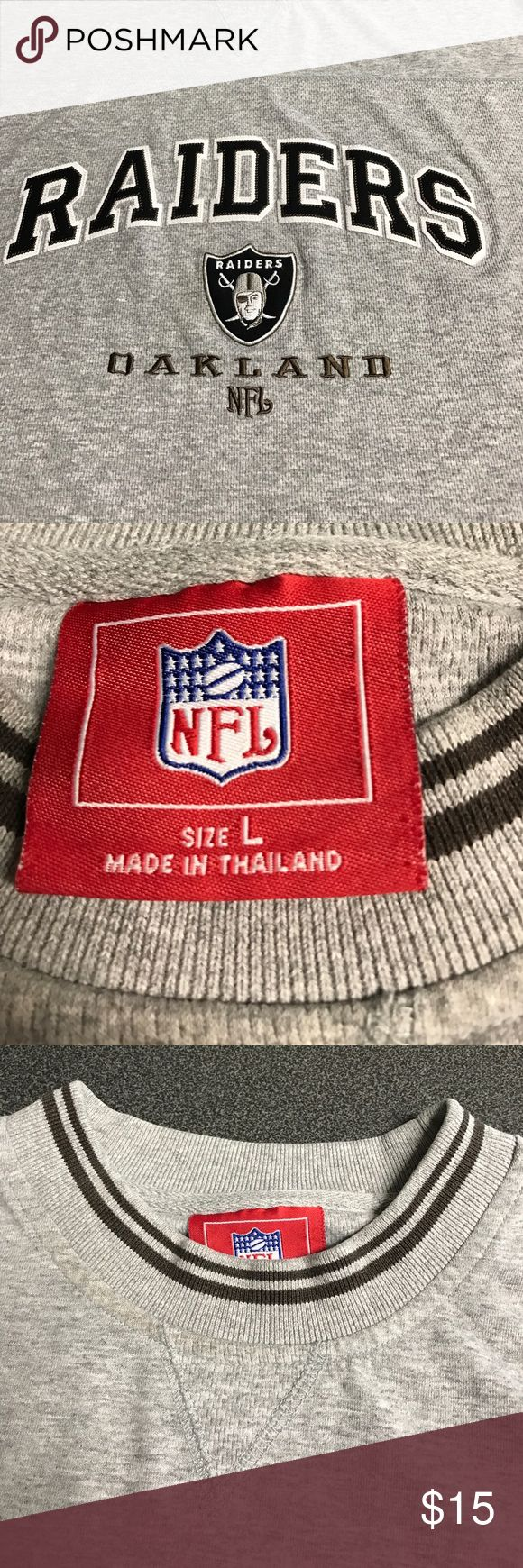 Oakland raiders long sleeve sweater Oakland raiders size large in great condition nfl Shirts Sweatshirts & Hoodies